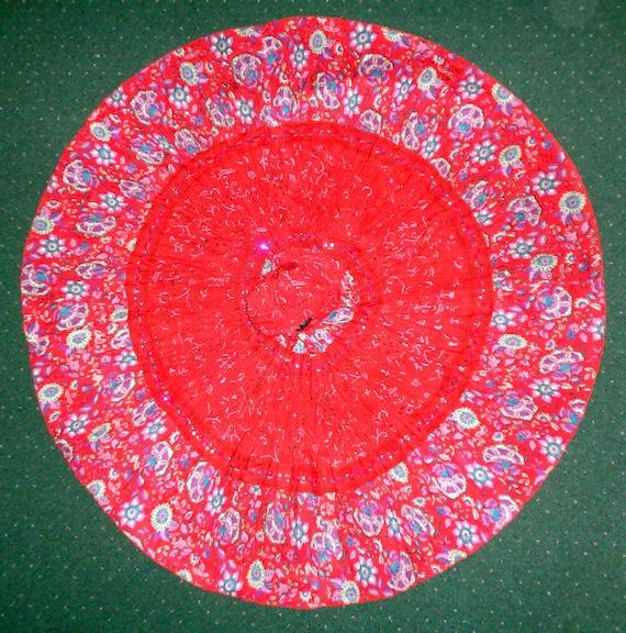 Phool New! India Print Cotton Full Skirt & Matchin
