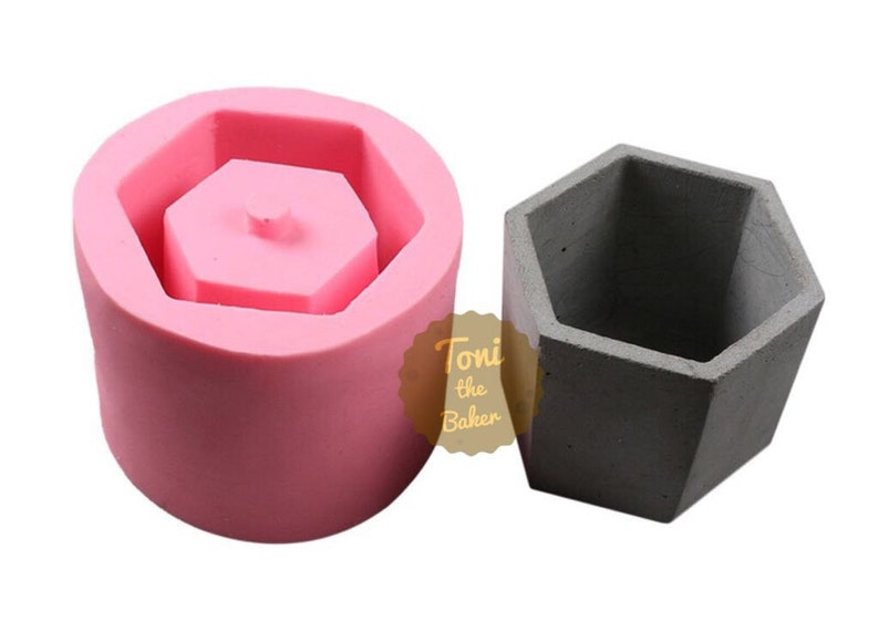 Silicone mold for concrete planter,Hexagonal Vase Silicone MoldConcrete  small flower pot mould, Silicone concrete mold, hexagonal cup mold