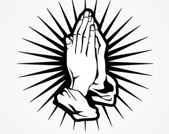black praying hands etsy