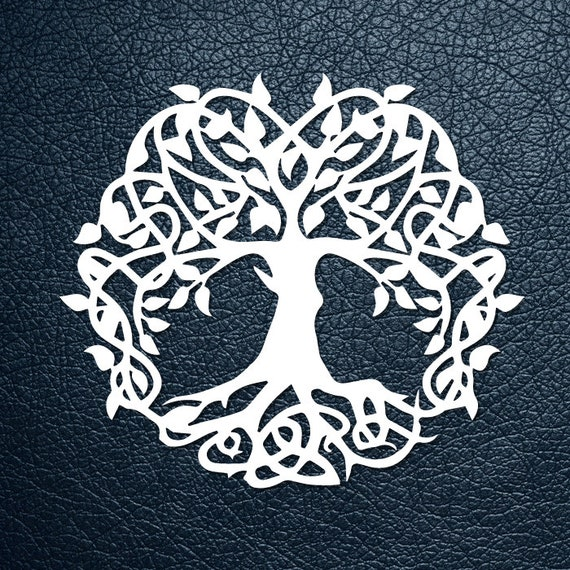 svg pdf cut file paper cutting template tree of life etsy