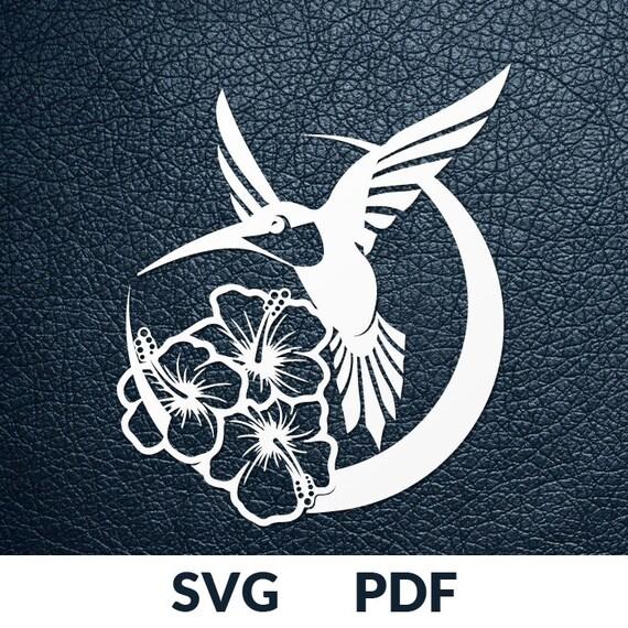 svg pdf file 2 designs papercutting template hummingbird etsy