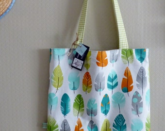 Tote bag feathers Made in France
