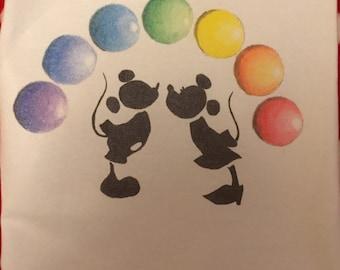 Mickey and Minnie Rainbow