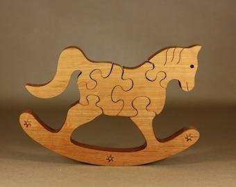 Wooden puzzle horse
