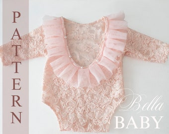 Newborn Romper With Open Back Sewing Pattern Photo Prop Sewing Pattern Baby Outfit Pdf Pattern