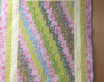 Pastel Square Twin Quilt