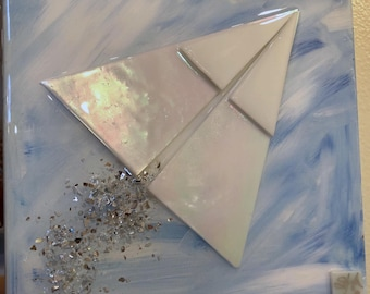 Paper Airplane in glass