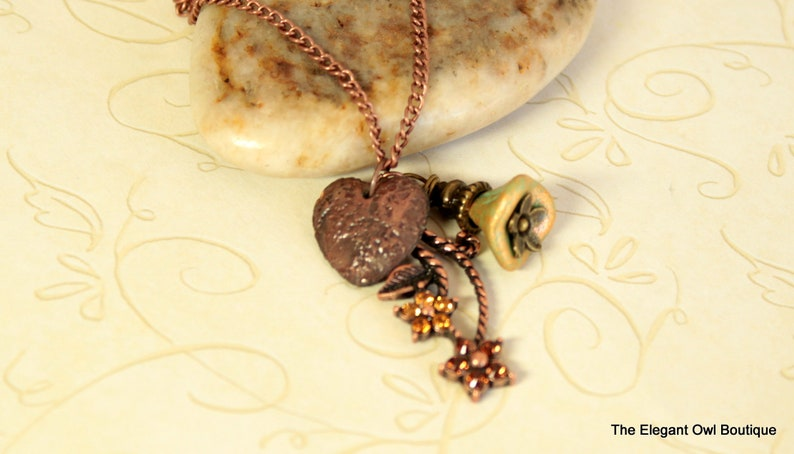 jewelry necklace Christmas gift flower necklace Copper Necklace birthday gift Charm Necklace,Heart necklace ceramic bead necklace