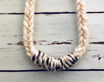 The Skinny Knit // Statement Piece / Handknit Necklace / Boho Style