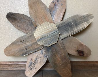 Handcrafted Rustic Reclaimed Wood Flower