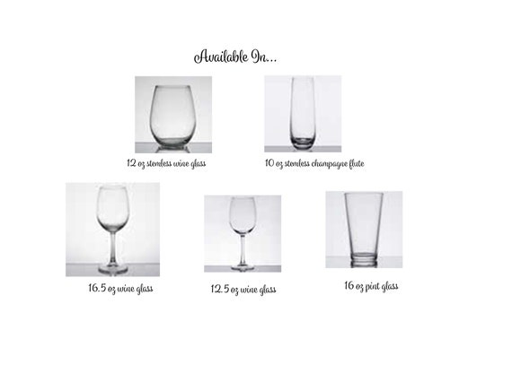Vintage 1959 Wine Glass 60th Birthday