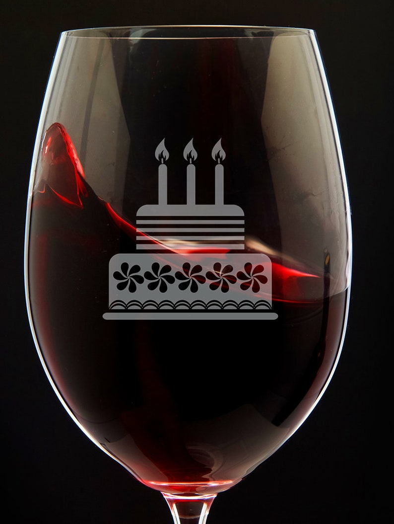 Birthday Wine Glass Cake Gift For