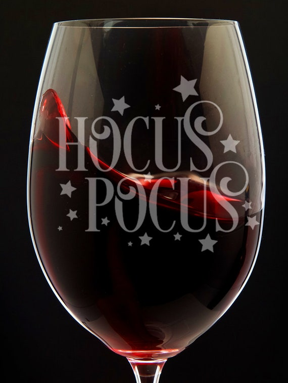 Hocus Pocus Wine Glass Halloween Decor Wine Glass Halloween Glassware Happy  Halloween Wine Glasses Halloween Party Favor