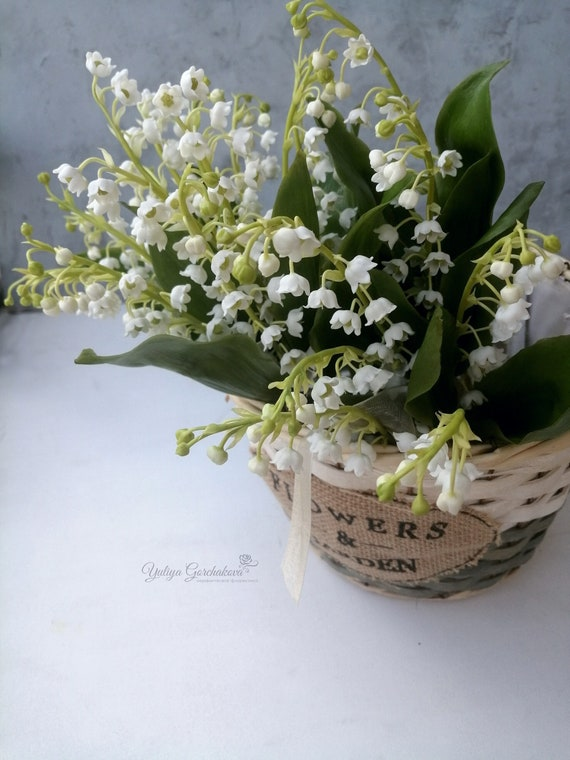 Quality Artificial Spring Flowers  Lily of the Valley  Bunch 6 stems