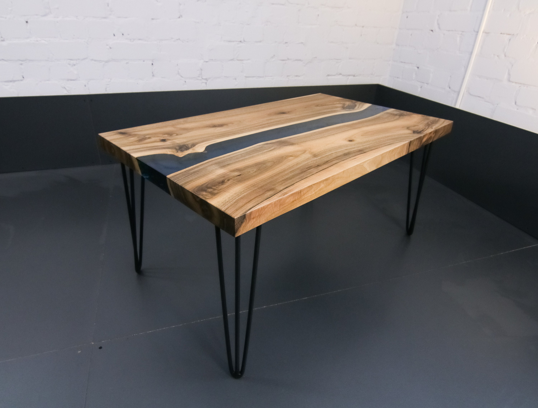 Resin coffee table, walnut coffee table, Wood epoxy resin, wooden coffee  table,resin coffee table, Rustic coffee table, epoxy resin table