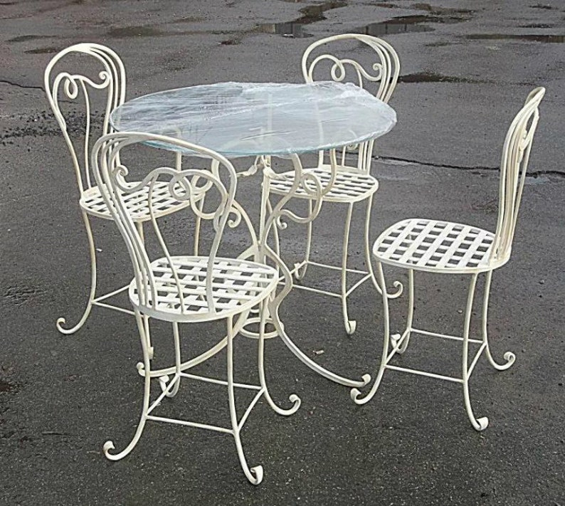a3a5e224ae944 Hand forged chair wrought iron chair iron stool garden