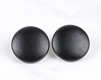 808d4bee2 Black Faux Leather Earring - Black Button Studs - Covered button Earrings -  choice of 4 sizes