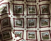 Amish scene quilt, quilt for sale, handmade quilt, gift quilt