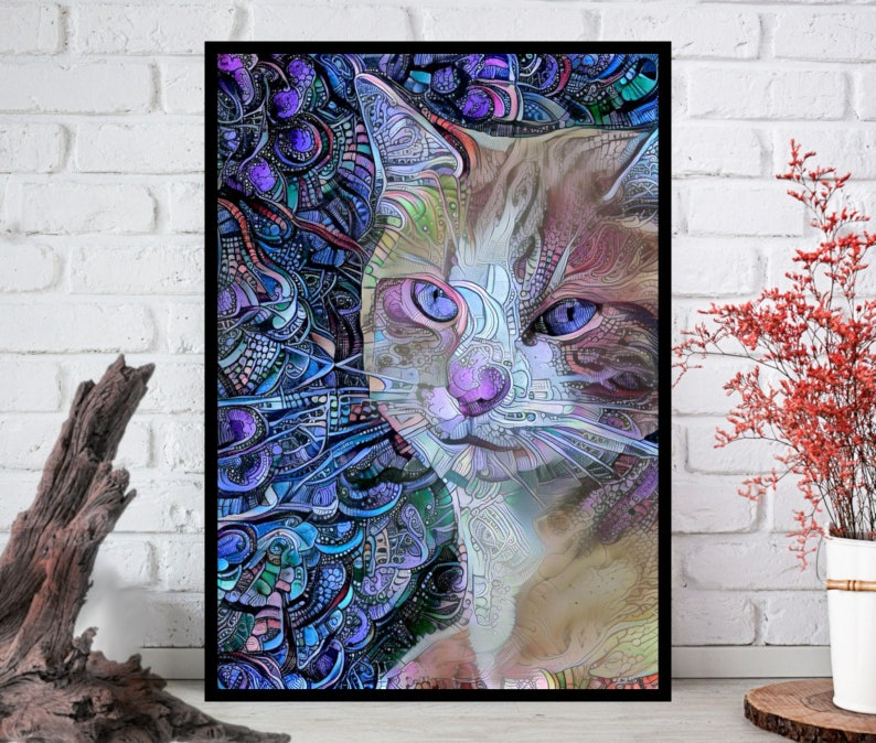 Cat PrintCat Wall Art Cat ArtCat Wall Art Cat Wall Decor  image 0