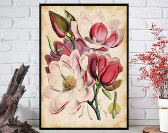 Wall Art, Flowers Wall Decor - Flowers Wall Hanging - Flowers Wall Print - Digital Art - Printable Art - Single Print#015 - INSTANT DOWNLOAD