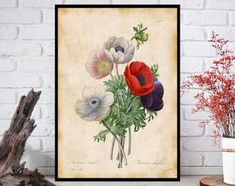 Wall Art, Flowers Wall Decor - Flowers Wall Hanging - Flowers Wall Print - Digital Art - Printable Art - Single Print#003 - INSTANT DOWNLOAD