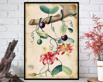 Wall Art, Flowers Wall Decor - Flowers Wall Hanging - Flowers Wall Print - Digital Art - Printable Art - Single Print#021 - INSTANT DOWNLOAD