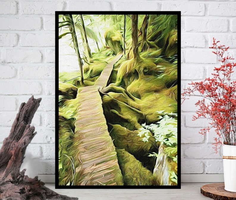 Oil Painting PrintNature Wall ArtNature Wall Decor Nature image 0