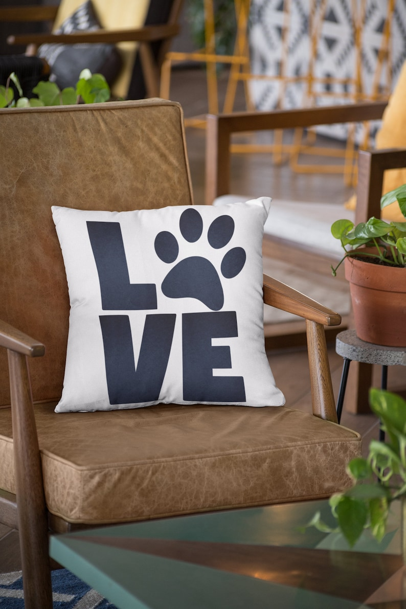 Dog SVG Digital Cut File For Silhouette and Cricut Cat Paw Print Love SVG Love SVG