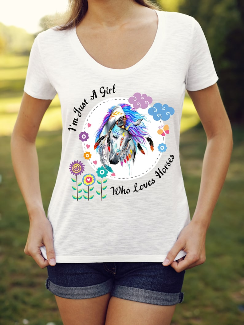 Sublimation Design Watercolor Quote I'm Just A Girl Who image 0