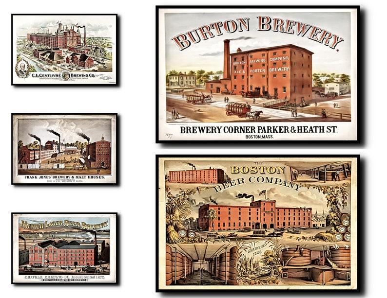 Brewery Print Set of 5Brewery Wall Art Brewery ArtBrewery image 0
