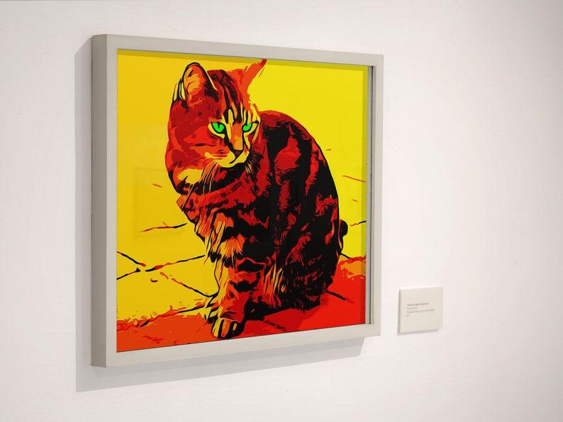 Cat PrintCat Wall Art Minimalist ArtCat Art Modern image 0