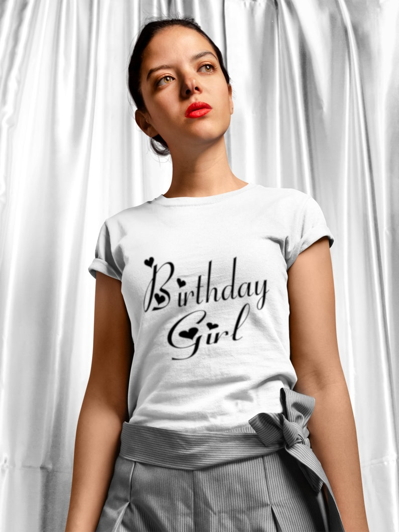 Birthday Girl SVG Birthday svg dxf and png instant download image 0