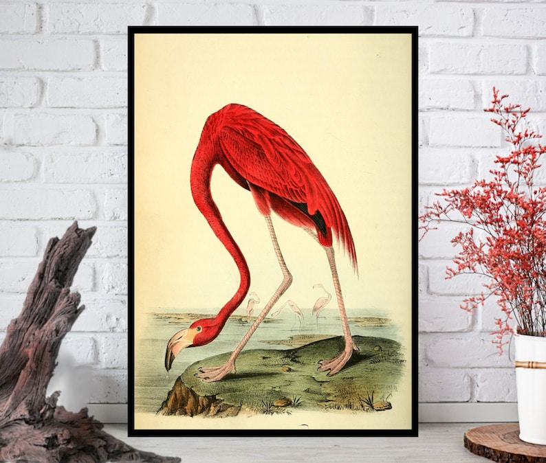 Flamingo Wall Art Flamingo Wall Decor  Flamingo Wall Hanging image 0