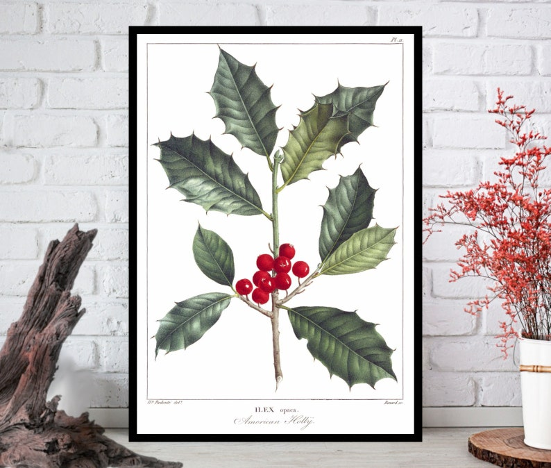 Holly Wall ArtHolly Wall Decor Holly Wall Hanging Holly image 0