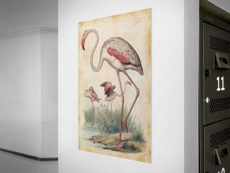 Flamingo Wall Art Flamingo Wall Decor Flamingo Wall Hanging image 0
