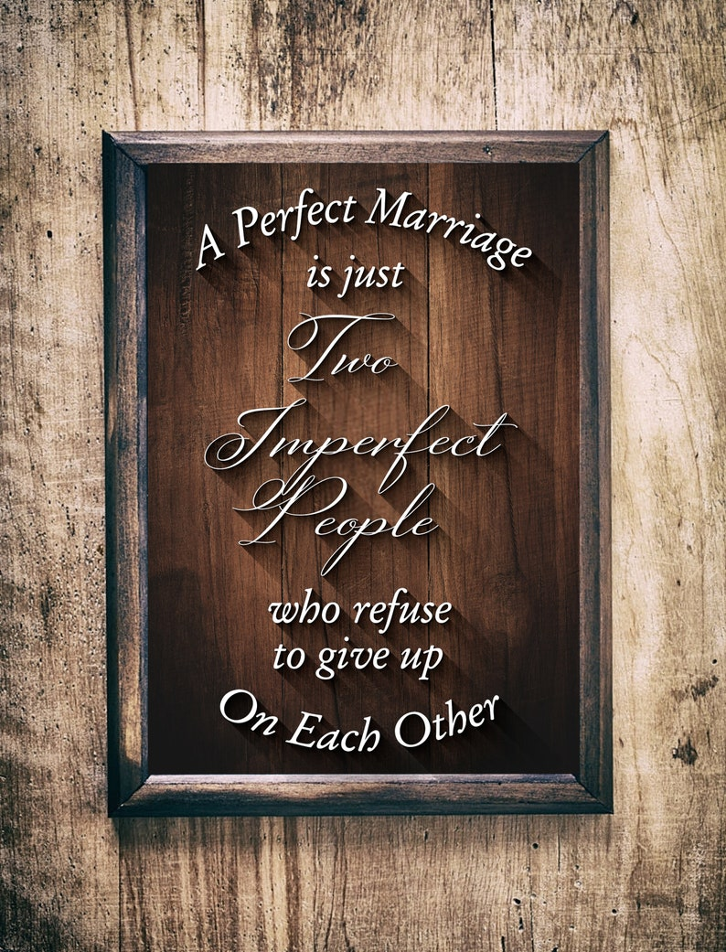 Love Quote SVG. Perfect Marriage is Just Two Imperfect People image 0