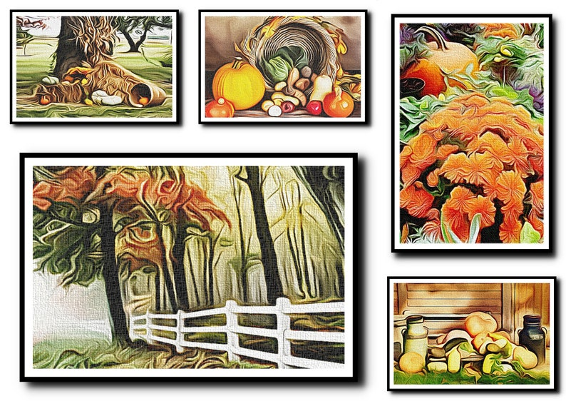 Oil Painting Print Set Of 5Autumn Wall ArtAutumn Wall image 0