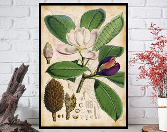 Wall Art, Flowers Wall Decor - Flowers Wall Hanging - Flowers Wall Print - Digital Art - Printable Art - Single Print#016 - INSTANT DOWNLOAD