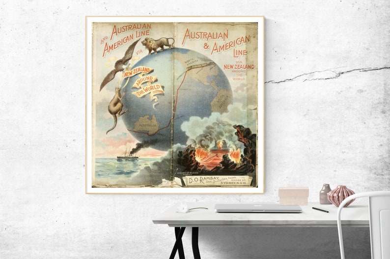 Around the world PrintAround the world Wall Art Around the image 0