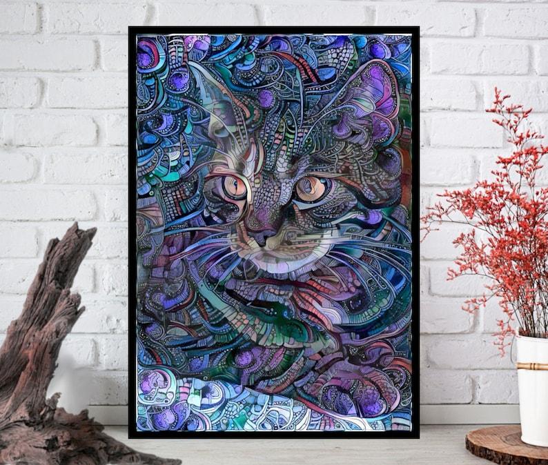 Cat PrintCat Wall Art Cat ArtCat Wall Art Cat Wall Decor  image 0