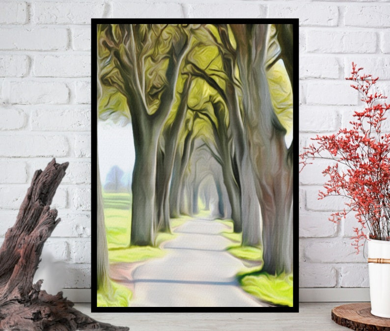 Oil Painting PrintNature Wall ArtNature Wall Decor Nature image 0
