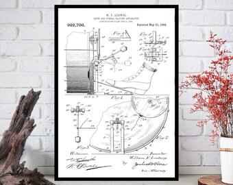 Patent Wall Art,Patent Wall Decor -Patent Wall Hanging -Patent Wall Print-Digital Art-Printable Art-Single Print-INSTANT DOWNLOAD