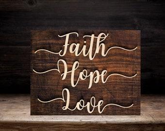 Faith,Hope,Love SVG,paper cut template,laser cut template,svg file,printable file,cricut,papercut svg,vinyl cut svg,home decor