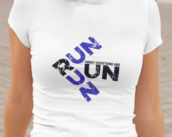 Sublimation Design  Run Run Forget Everything And Run PNG Clipart, Instant Digital Download Printable T Shirt Art