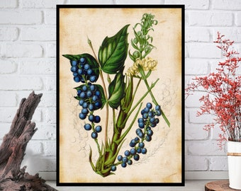 Wall Art, Flowers Wall Decor - Flowers Wall Hanging - Flowers Wall Print - Digital Art - Printable Art - Single Print#017 - INSTANT DOWNLOAD