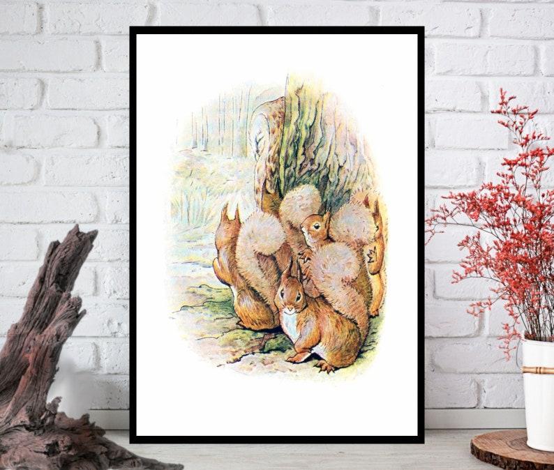 Squirrel Wall ArtSquirrel Wall Decor Squirrel Wall Hanging image 0