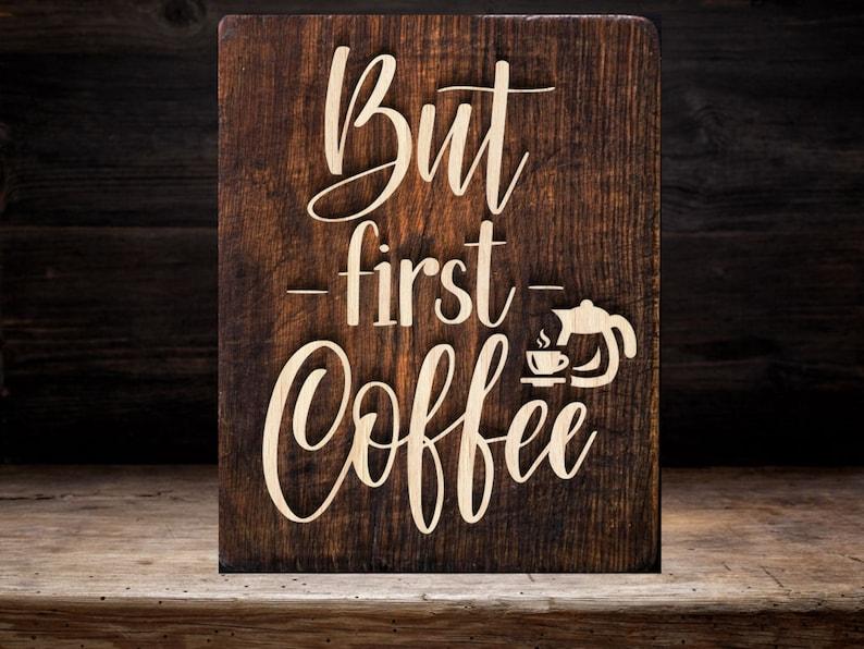 But firts coffee SVGpaper cut templatelaser cut templatesvg image 0