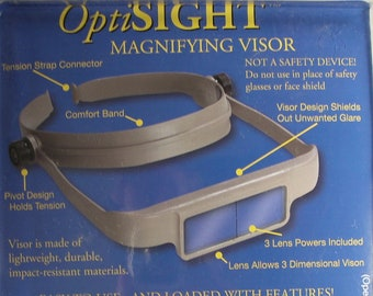 Optisight magnifying visor - 3 lenses