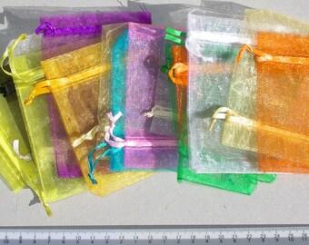 20 pcs Organza bags 7 x 8 cm in various colors