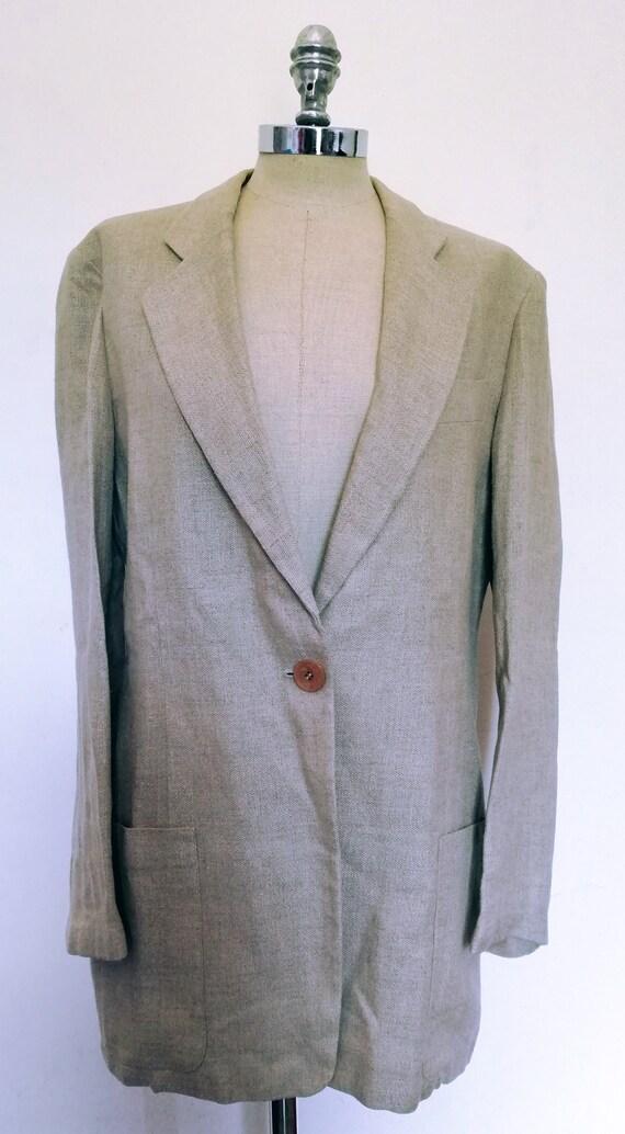 Vintage linen jacket vintage 80s-Linen jacke vinta